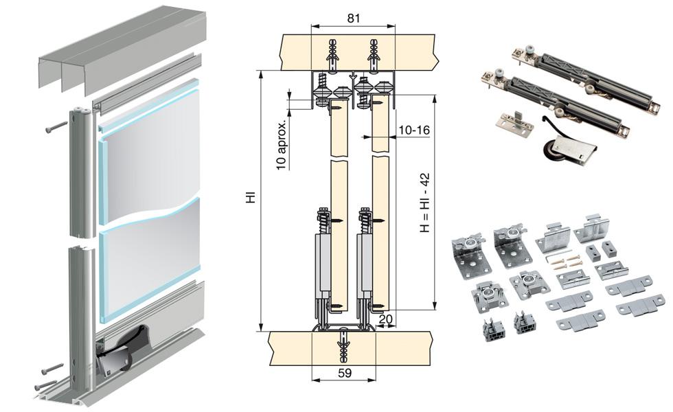 Сравнение раздвижных систем для шкафов купе.